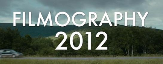 Filmography 2012 01