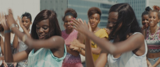 Assa Sylla and Karidja Touré in Céline Sciamma's GIRLHOOD