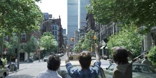 The twin towers in TriStar Pictures' THE WALK.