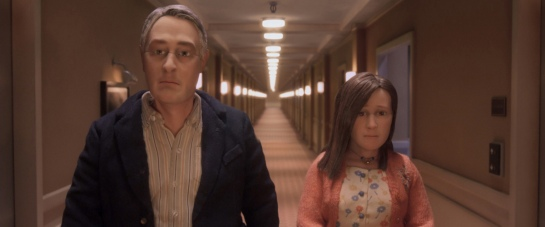 David Thewlis voices Michael Stone and Jennifer Jason Leigh voices Lisa in the animated stop-motion film, ANOMALISA, by Paramount Pictures