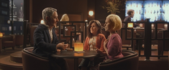 (L-R) David Thewlis voices Michael Stone and Jennifer Jason Leigh voices Lisa Hesselman and Tom Noonan voices Emily in the animated stop-motion film, ANOMALISA, by Paramount Pictures