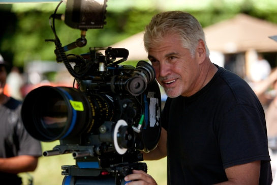 Director Gary Ross on the set of THE HUNGER GAMES.